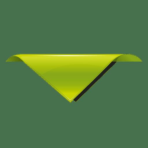 Marca de la etiqueta del triángulo verde Transparent PNG