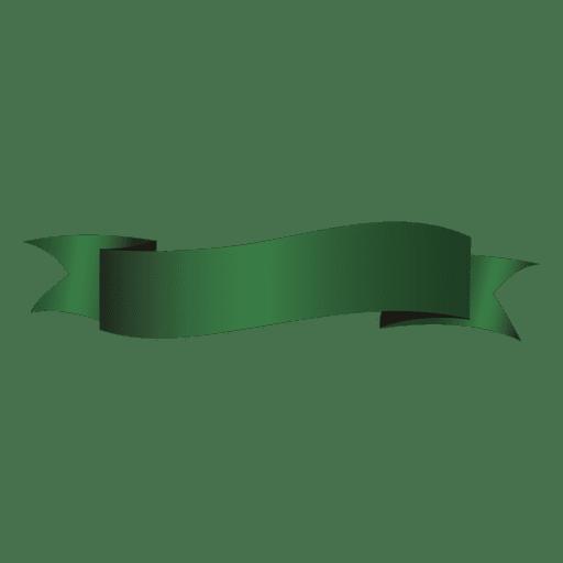 Green wave ribbon - Transparent PNG & SVG vector