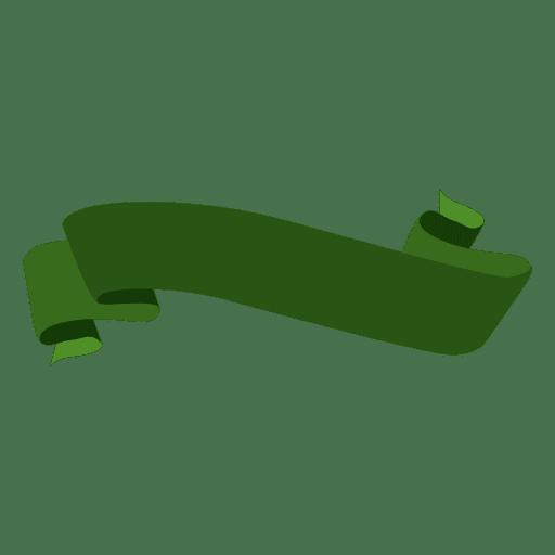 Green wavy ribbon Transparent PNG