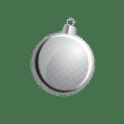 Bola de navidad gris