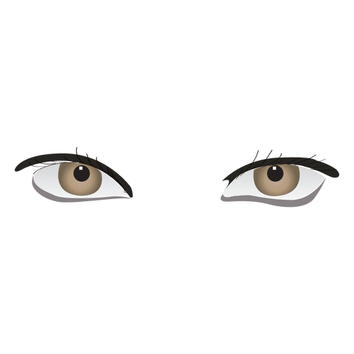 Grey woman eyes Transparent PNG