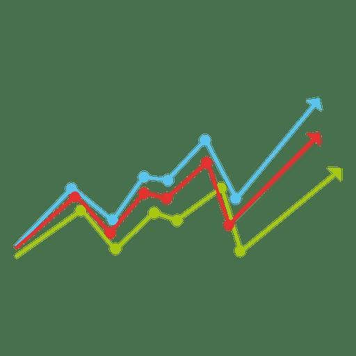 Line Design Png : Growing colorful lines chart transparent png svg vector