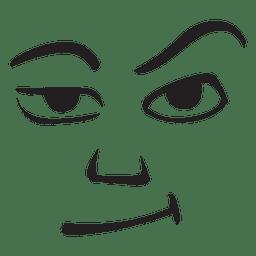 Emoticon de cara gruñona