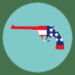 Icono de pistola redonda