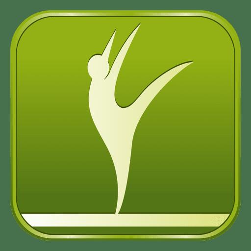 Icono cuadrado artístico de gimnasia Transparent PNG