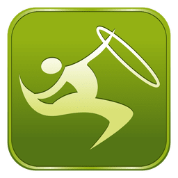 Gymnastics rhythmic square icon