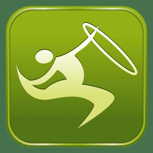 Gymnastics rhythmic square icon