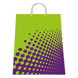 Halftones shopping bag