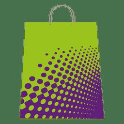 Meio-tom sacola de compras