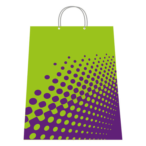 Halftones shopping bag Transparent PNG