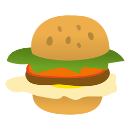 Hamburger funny cartoon