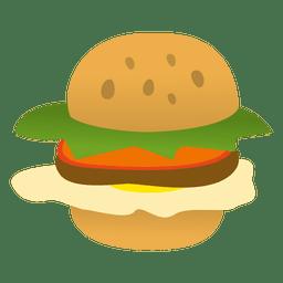 Hamburger lustige Karikatur