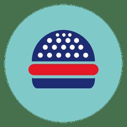 Hamburger round icon