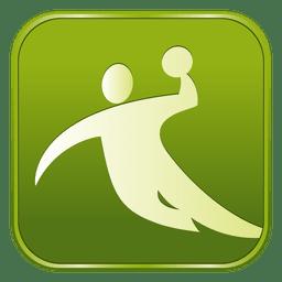 Icono cuadrado de balonmano