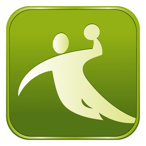 Icono cuadrado de balonmano Transparent PNG