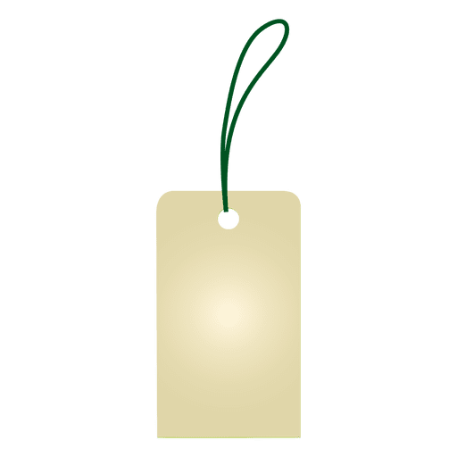 Etiqueta colgante en blanco Transparent PNG