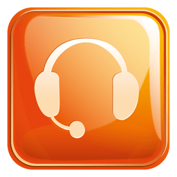 Headphone square icon 3