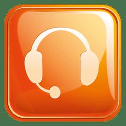 Icono cuadrado de auriculares 3