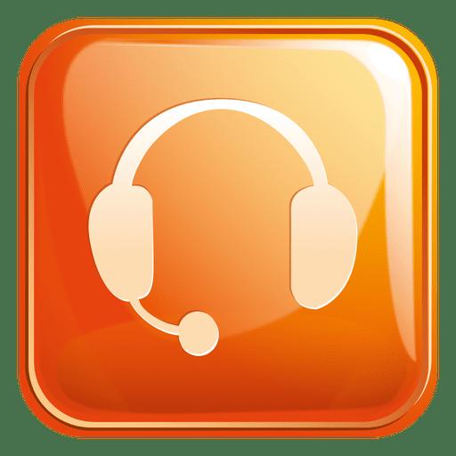 Icono cuadrado de auriculares 3 Transparent PNG