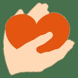Coração nas palmas