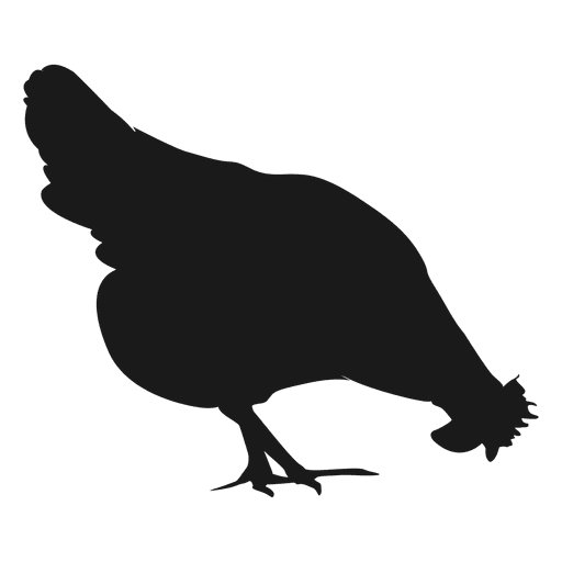 Hen silhouette 1 - Transparent PNG & SVG vector file (512 x 512 Pixel)