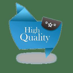Etiqueta de origami de alta calidad.