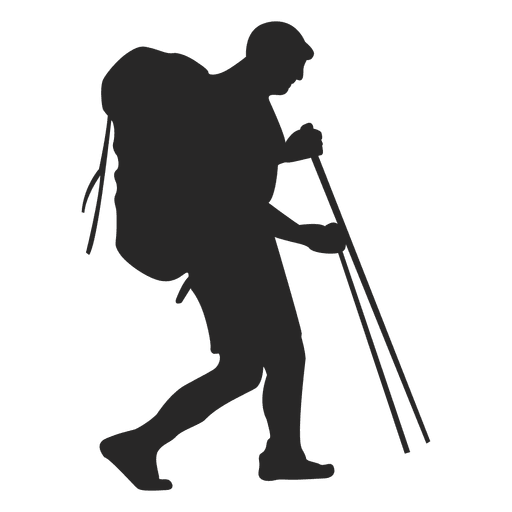 Hiking silhouette Transparent PNG