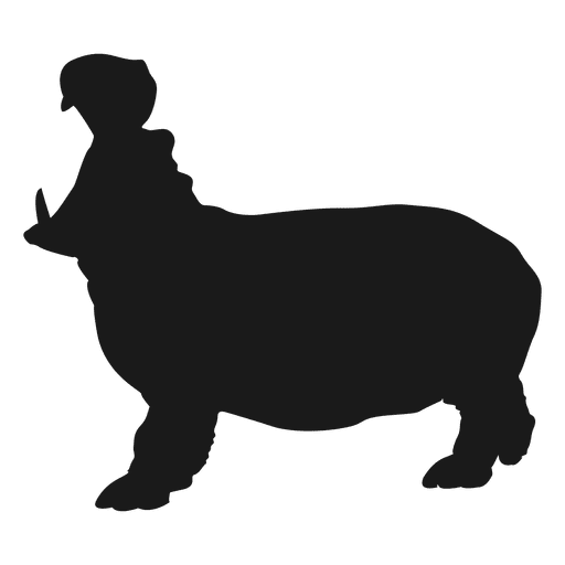 Hippo Silhouette Transparent Png Amp Svg Vector