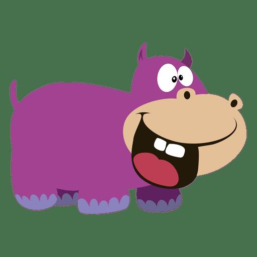 Hippopotamus cartoon Transparent PNG