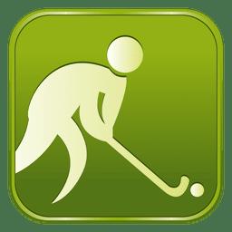 icono cuadrado de hockey