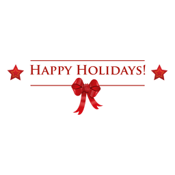 Holidays badge ribbon