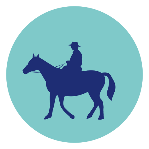 Horseman round icon Transparent PNG