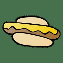 Desenhos animados de coque de cachorro-quente