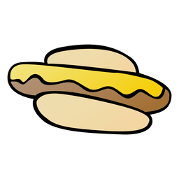 Hot dog bun cartoon