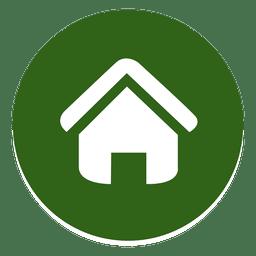 Haus rundes Symbol