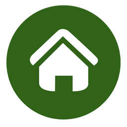 Icono de casa redonda