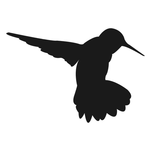 Hummingbird silhouette Transparent PNG
