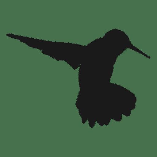 Silueta de colibrí Transparent PNG