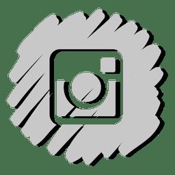 Instagram icono distorsionado