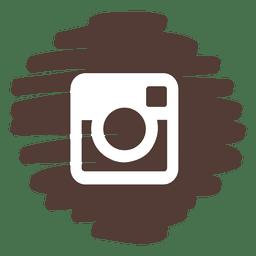 Instagram distorcida ícone redondo