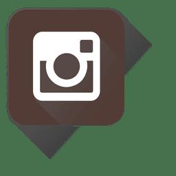 Ícone do Instagram ao quadrado