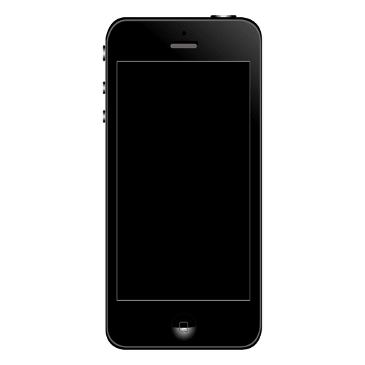 Iphone 5 front Transparent PNG