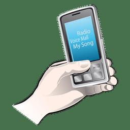 Icono de la mano de iphone