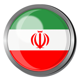 Iran flag badge