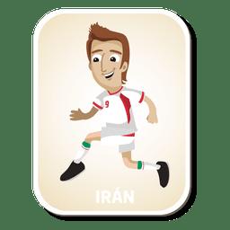 Desenho de jogador de futebol do Irã