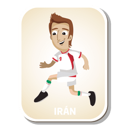 Iran football player cartoon