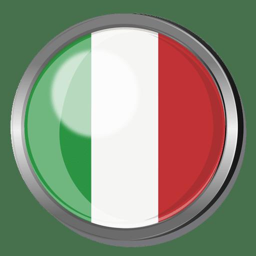 Crachá de bandeira de Itália Transparent PNG