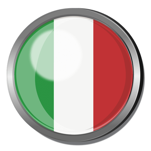 Italy flag badge Transparent PNG