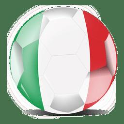 Bandera de futbol de italia