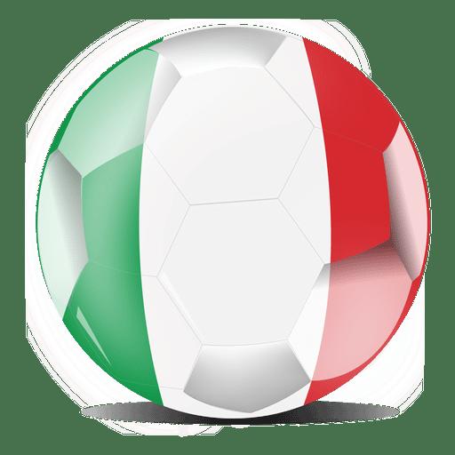 Bandera de futbol de italia Transparent PNG